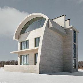 На изогнутой крыше — тонкий керамогранит